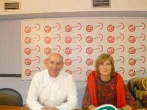 José Manuel Castillo (UGT) y Margarita Ferreras (CSIF)