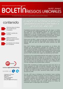 Captura del Boletín de Prevención de Riesgos de Julio de 2017
