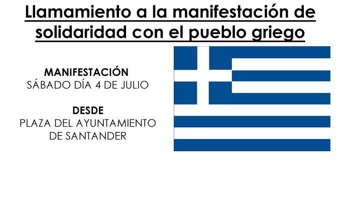 Manifestación de solidaridad con el pueblo griego