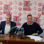 Rueda de prensa en la que se han presentado los actos del 1 de Mayo organizados por UGT y CCOO en Cantabria
