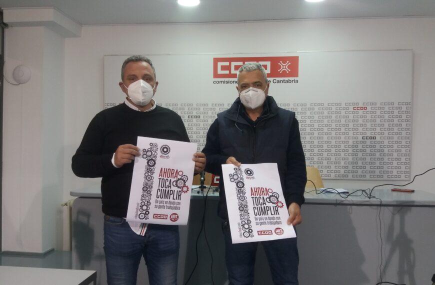 UGT y CCOO de Cantabria exigirán en el 1 de Mayo que se salde la deuda con la clase trabajadora