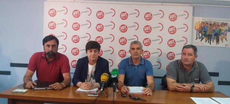 Representantes sindicales del sector del transporte de viajeros por carretera de Cantabria