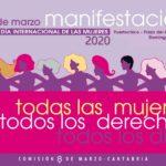 Cartel oficial de la manifestación del 8 de Marzo de 2020 en Santander