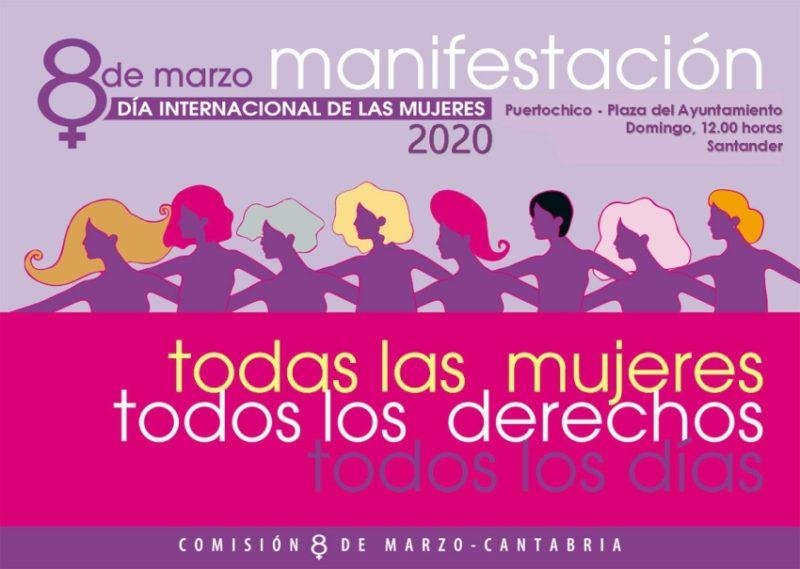 UGT de Cantabria anima a secundar la manifestación del Día Internacional de las Mujeres en Santander