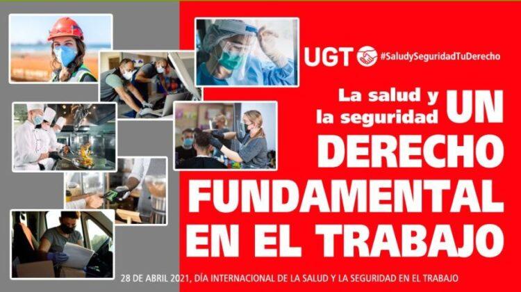 Cartel anunciador de la conmemoración del Día Internacional de la Salud y la Seguridad en el Trabajo de este año