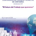 Cartel oficial de la conferencia conmemorativa del centenario de la Organización Internacional del Trabajo (OIT)