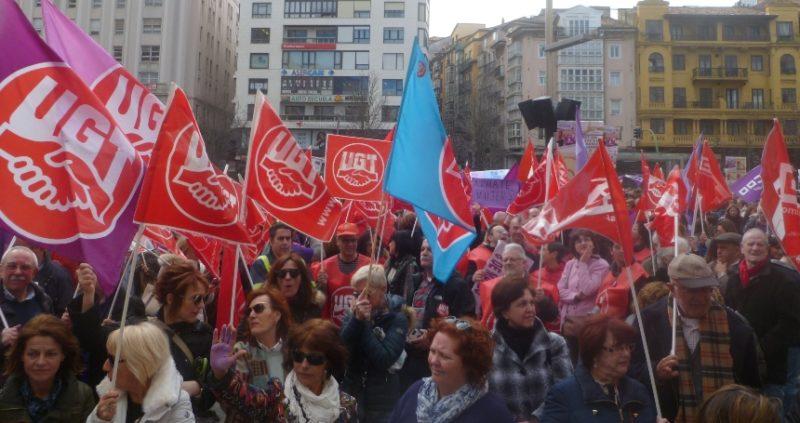 Imagen de la concentración coincidente con la huelga del Día Internacional de la Mujer Trabajadora del año pasado