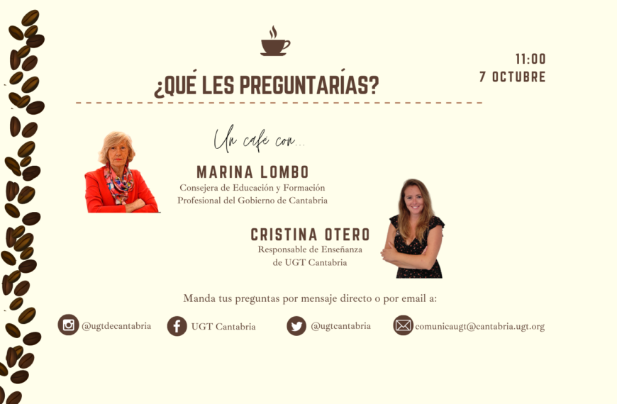 """Acto """"Un café con…"""" Marina Lombó y Cristina Otero"""