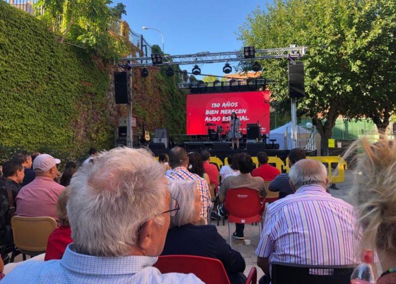 Uno de los muchos actos celebrados este fin de semana en la Julián Besteiro en el acto de clausura del 130 Aniversario de UGT