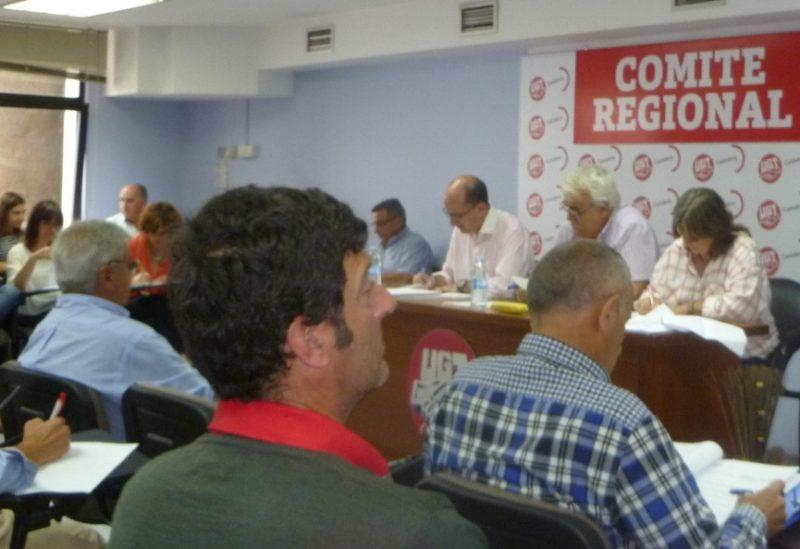 Imagen de archivo de un comité regional de UGT en Cantabria