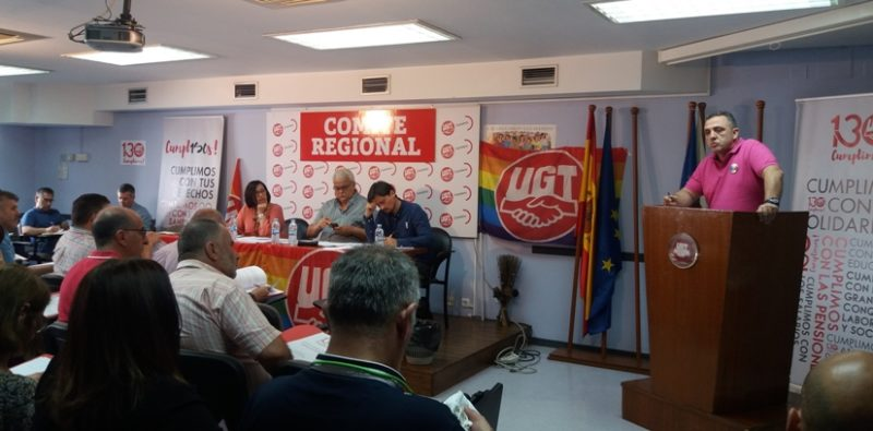 Comité Regional de UGT en Cantabria, celebrado hoy en la sede del sindicato en Santander