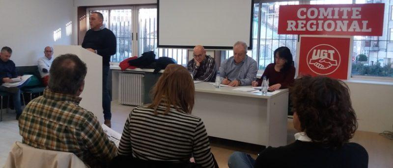 Imagen del Comité Regional de UGT celebrado hoy en la sede del sindicato en Camargo