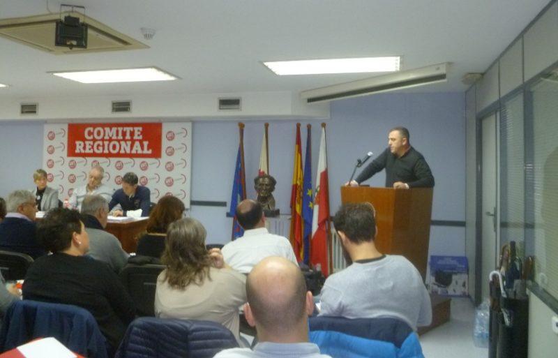 Imagen del último comité regional de UGT en Cantabria, celebrado el pasado mes de enero