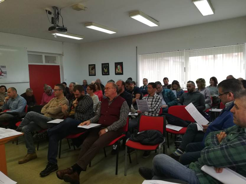 Pleno del Comité Regional de UGT-FICA en Cantabria celebrado hoy en Camargo
