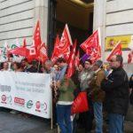 Imagen de la concentración convocada por los sindicatos de la AGE en Cantabria