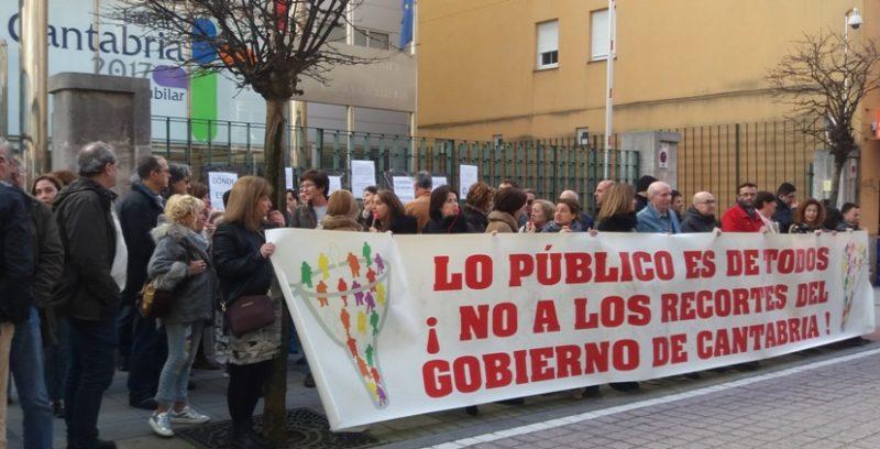 Después de varias movilizaciones, los sindicatos convocan huelga el 23 de mayo en el personal laboral del Gobierno de Cantabria