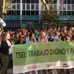 Concentración de los técnicos superiores de educación infantil el pasado 15 de octubre