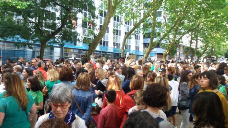 Concentración coincidente con la huelga de docentes con la que se cerró el curso pasado
