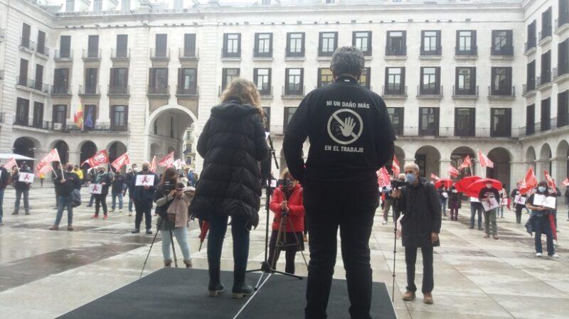 UGT y CCOO de Cantabria exigen acabar con la creciente lacra de la siniestralidad laboral