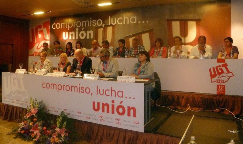 Imagen de archivo del último congreso regional celebrado por UGT en Cantabria
