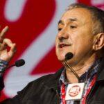 Pepe Álvarez, durante una de sus intervenciones en el último congreso confederal del sindicato