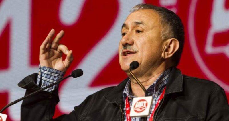 Pepe Álvarez responde este miércoles a preguntas de trabajadores cántabros en un encuentro telemático en Santander