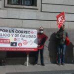 Imagen de la última movilización en Correos del pasado 13 de abril