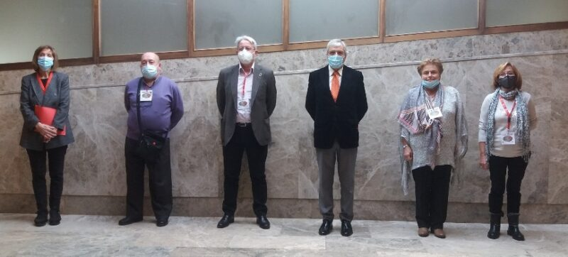 Nueva Ejecutiva regional de UJP-UGT en Cantabria, en la que falta de uno de sus integrantes que no pudo asistir al congreso por enfermedad