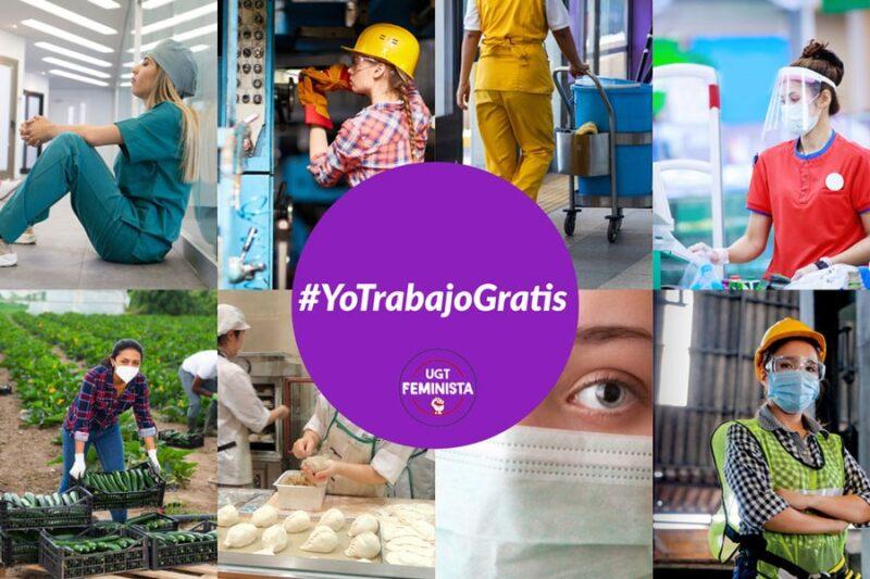 UGT relanza la campaña #Yotrabajogratis contra la brecha salarial entre mujeres y hombres en España