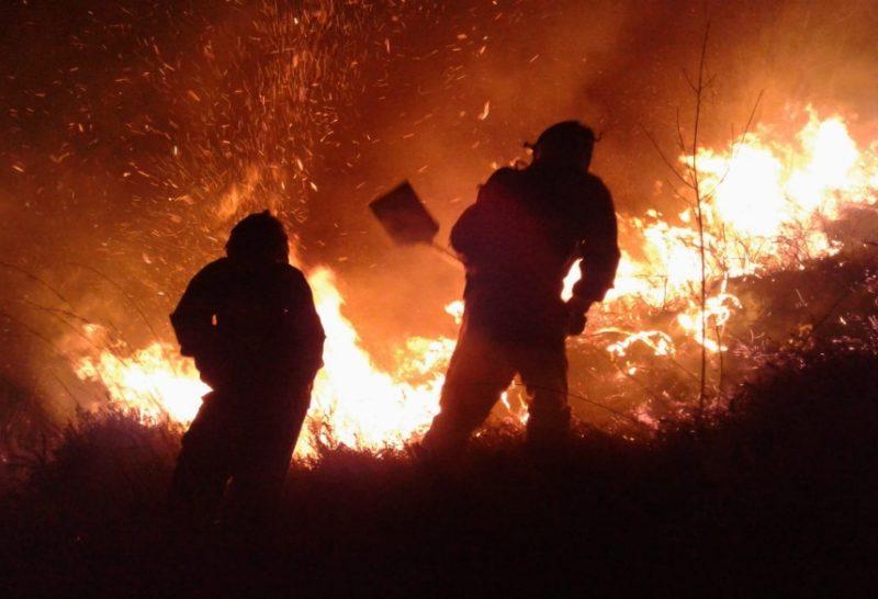 Imagen de archivo de un incendio forestal en Cantabria
