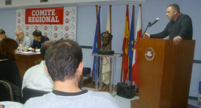 Imagen del Comité Regional de UGT en Cantabria celebrado hoy en Santander