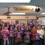 Asistentes a la asamblea del 8M convocada por UGT en Cantabria