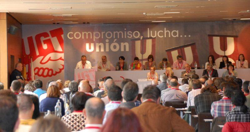 Imagen del último congreso regional de UGT en Cantabria, celebrado en mayo de 2016