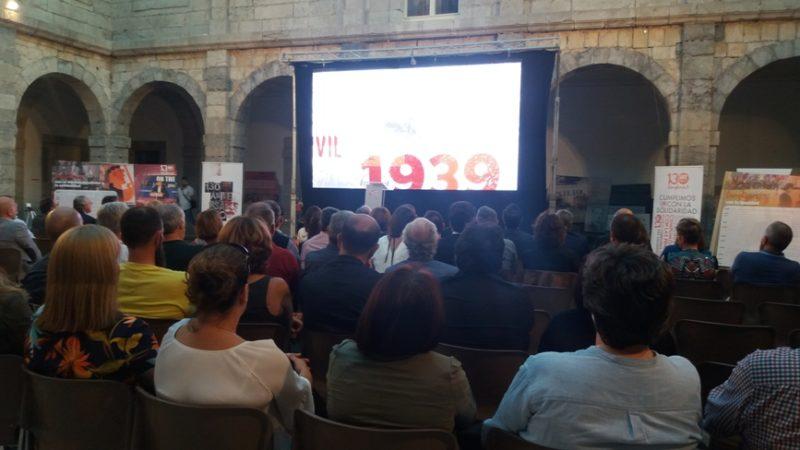 Imagen del acto en el que puso en marcha el programa de actos conmemorativos de los 130 años de UGT