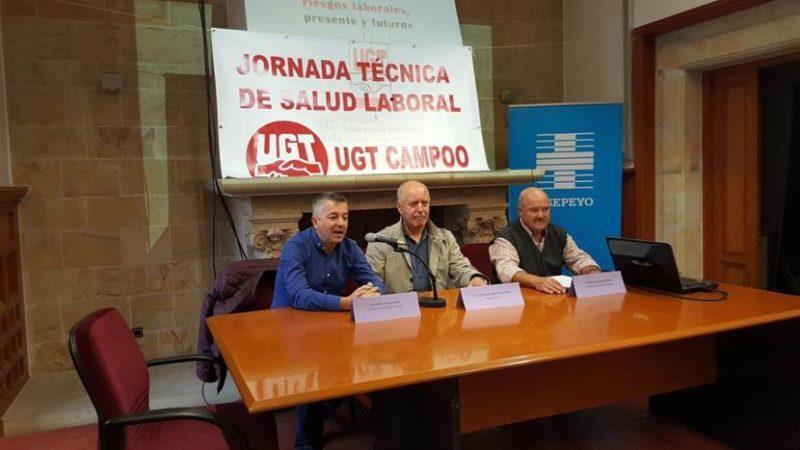 Imagen del acto inaugural de la jornada de salud laboral de UGT en Campoo