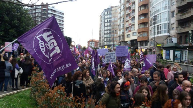 Imagen de la multitudinaria manifestación del 8 de Marzo en Santander