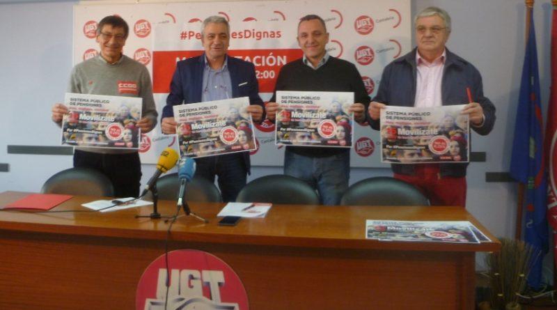 UGT y CCOO dan continuidad este domingo 15 de abril a las movilizaciones por las pensiones públicas