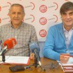 Responsables regionales del sector público de UGT y CCOO en Cantabria, Luis Santos Clemente y Javier Báscones