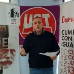 Mariano Carmona, secretario general de UGT en Cantabria, en su discurso del 1 de Mayo emitido en las redes sociales del sindicato
