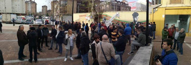 Imagen de una de las últimas movilizaciones de Sniace el pasado mes de marzo