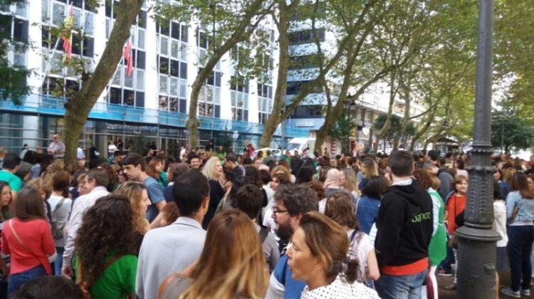 Imagen de una de las movilizaciones convocadas en su momento en contra del calendario escolar y la eliminación de la jornada lectiva reducida de junio y septiembre