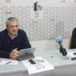 Los secretarios generales de UGT y de CCOO en Cantabria, en la rueda de prensa para presentar los actos del 1 de Mayo, este año en redes sociales por el coronavirus