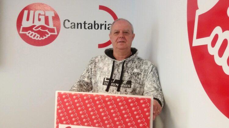 José Giráldez Camus, secretario general de FeSMC-UGT en Cantabria, reelegido hoy en el cargo para un segundo mandato