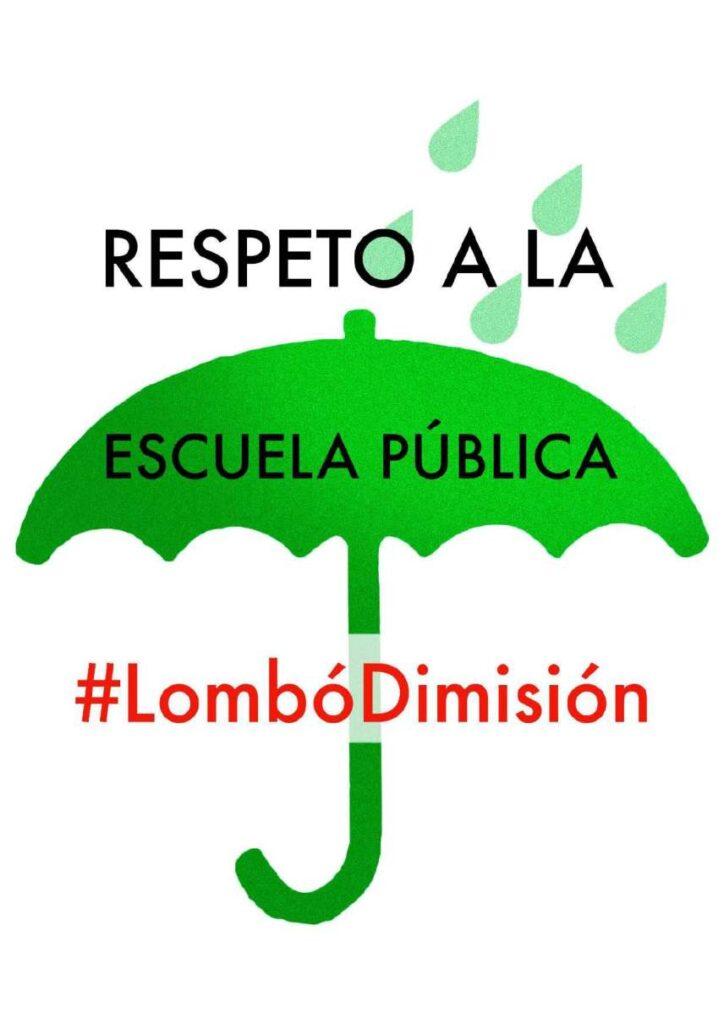 Cartel de la campaña emprendida por los sindicatos de la enseñanza pública no universitaria de Cantabria
