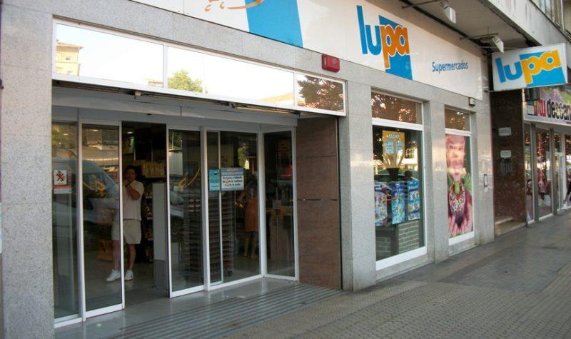 Establecimiento de Lupa donde UGT ha convocado la concentración