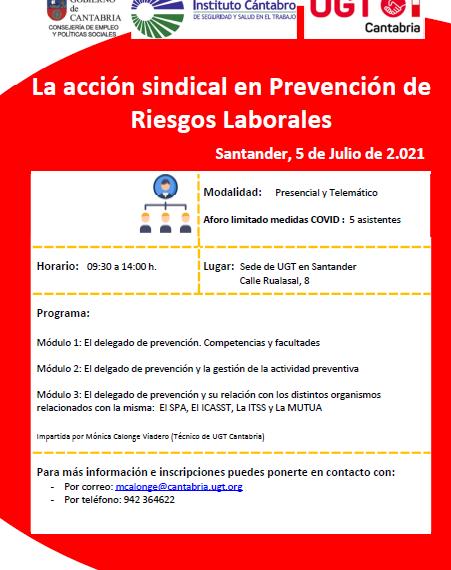 Curso Prevención De Riesgos Laborales. Santander