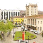 Plaza de las Estaciones de Santander, que acogerá la concentración frente a las sedes de RENFE y FEVE