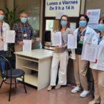Representantes de la Junta de Personal en el registro de las firmas para reabrir la cafetería de personal de Sierrallana