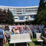 Imagen de las movilizaciones que se convocaron en 2012 contra el cierre de La Pereda como centro público