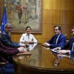 Reunión del diálogo social donde se acordó la nueva subida del SMI a 950 euros mensuales en 2020